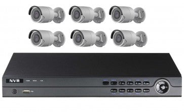8CH 6 CAMERA 2MP IP SECURITY CAMERA KIT