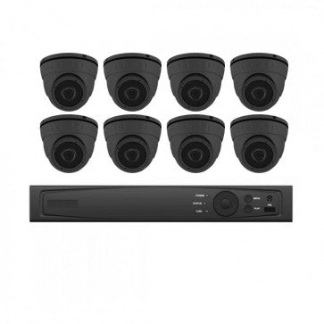 COMMERICAL 8CH 8 CAMERA 5MP TVI SECURITY CAMERA KIT