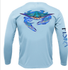 Blue Crab Long-Sleeve Dry-Fit Shirt