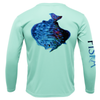 Youth Flounder Long-Sleeve Dry-Fit Shirt