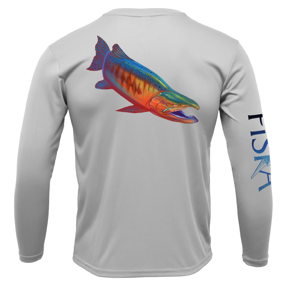 Youth Salmon Long-Sleeve Dry-Fit Shirt