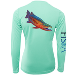 Salmon Long-Sleeve Dry-Fit Shirt