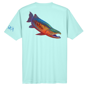 Salmon Short-Sleeve Dry-Fit Shirt