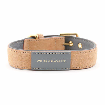 William Walker Leder Hundehalsband Coral X Sea Salt LIMITED EDITION - ilio-shop
