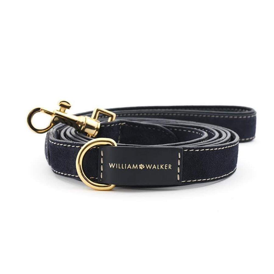 William Walker City Leder Hundeleine Midnight
