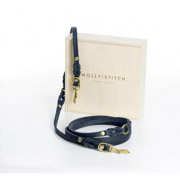 "MOLLY & STITCH - ""BUTTER"" 3X VERSTELLBAR HUNDELEINE - NAVY BLAU - ilio-shop"