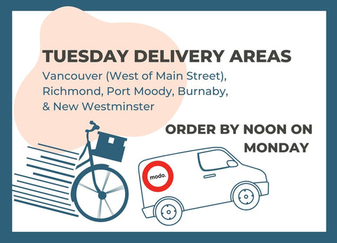 Tuesday Delivery Areas