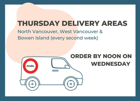 Thursday Delivery Areas