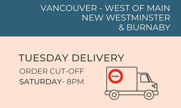 Vancouver Wet of Main, New West & Burnaby Tuesday Delivery  - Order cut off Sat 8pm