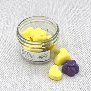 Multi Coloured Bath Bombs - Citrus Scented - Small Jar