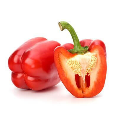 Organic Red Bell Peppers - Hot House - Mexico - 1lb (3-4 Peppers)