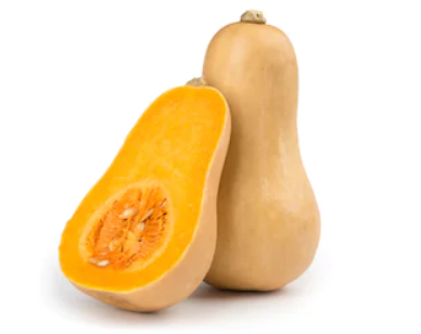 butternut squash whole and cut in half