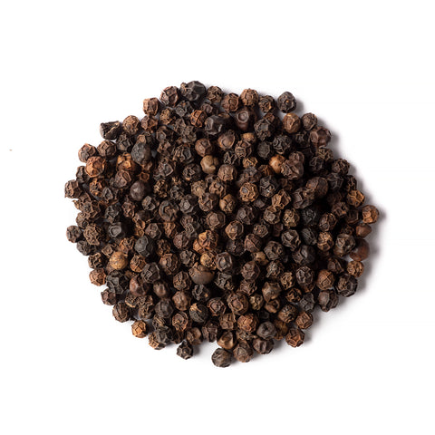 Organic Black Peppercorns Whole - 80g - Small Jar