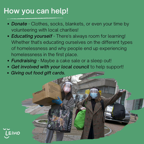 What you can do to help people experiencing homelessness
