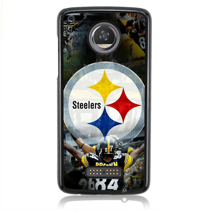 STEELERS BROWN B0235 Motorola Moto Z2 Play Case