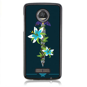 Legend Of Zelda Sword Flower B0401 Motorola Moto Z2 Play Case