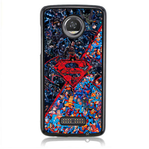 Batman Superman B0465 Motorola Moto Z2 Play Case