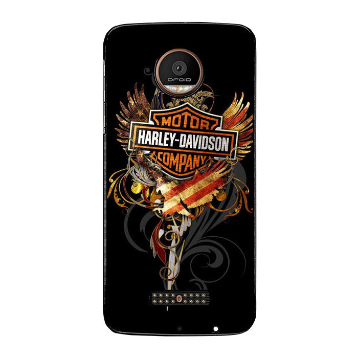 Harley Davidson Bikers All Over The World FJ0764 Motorola Moto Z Force Case