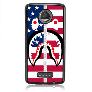 A BATHING APE AMERICAN FLAG J0050 Motorola Moto Z2 Play Case
