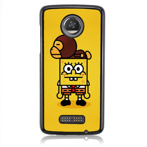 Spongebob And Baby Milo H0059 Motorola Moto Z2 Play Case