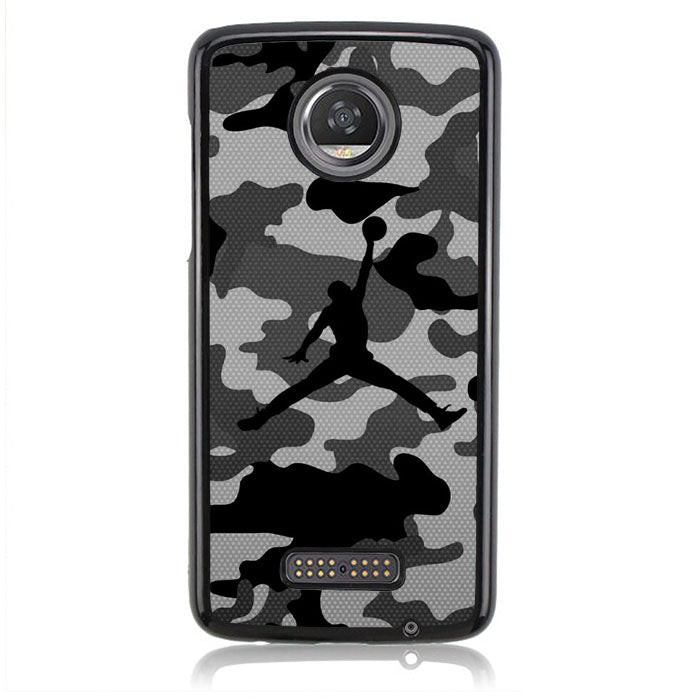 Air Jordan Camo Black White Q0297 Motorola Moto Z2 Play Case