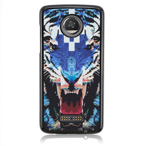 MARCELO BURLON BLUE TIGER J0169 Motorola Moto Z2 Play Case