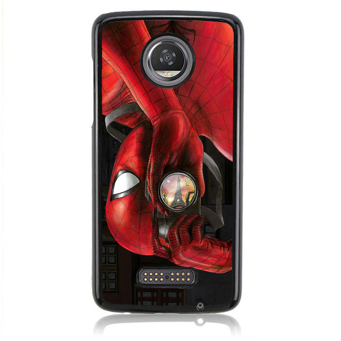 SPIDERMAN SHOOT A PICTURE J0229 Motorola Moto Z2 Play Case