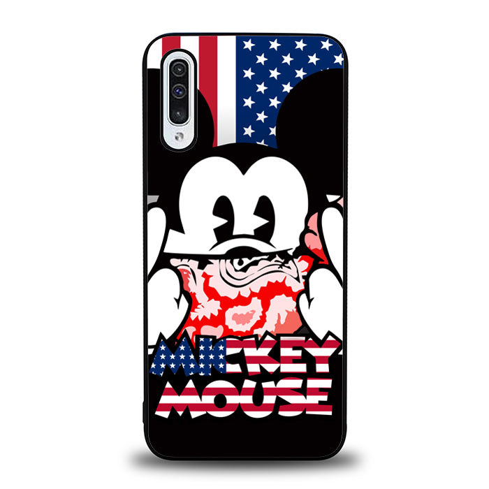 mickey mouse america flag J0001 Samsung Galaxy A50 Case
