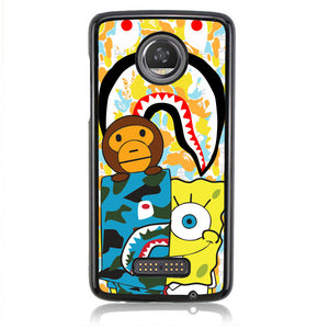 Spongebob Wearing a BAPE J0028 Motorola Moto Z2 Play Case