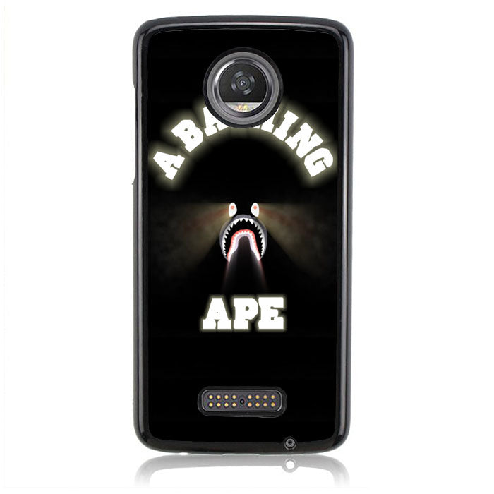 A BATHING APE SHARK GLOW IN THE DARK J0031 Motorola Moto Z2 Play Case
