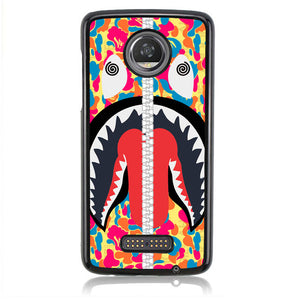 A BATHING APE MAGENTA J0051 Motorola Moto Z2 Play Case