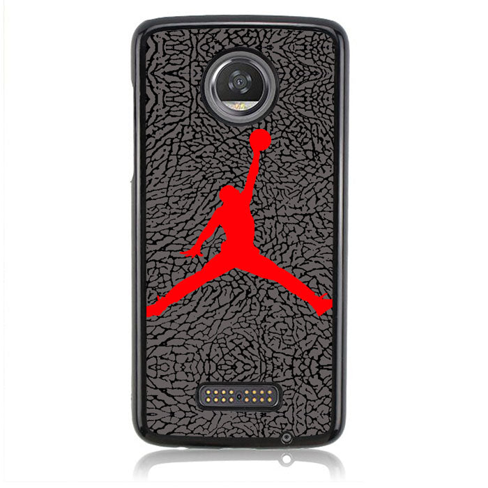AIR JORDAN GREY TEXTURE J0072 Motorola Moto Z2 Play Case