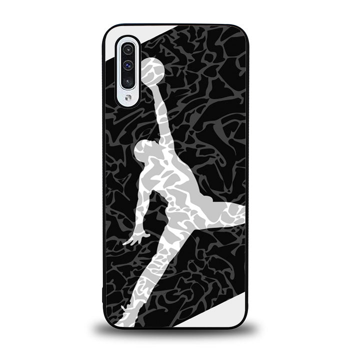 AIR JORDAN BLACK TEXTURE J0080 Samsung Galaxy A50 Case