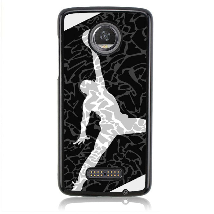 AIR JORDAN BLACK TEXTURE J0080 Motorola Moto Z2 Play Case