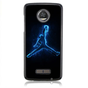 AIR JORDAN LOGO BLUE GLOWING J0081 Motorola Moto Z2 Play Case