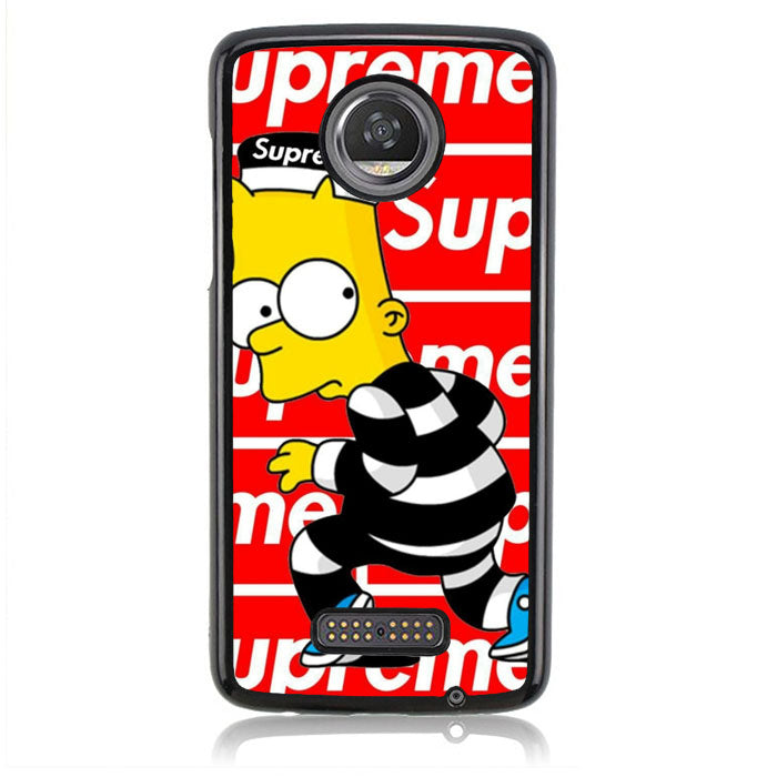 supreme and Bart the simpson J0242 Motorola Moto Z2 Play Case