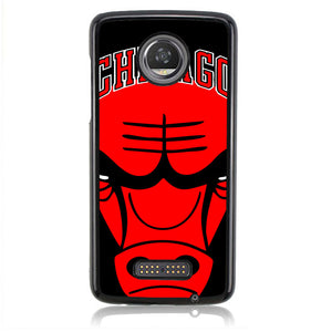 NBA Chicago Bulls Head Focus J0410 Motorola Moto Z2 Play Case