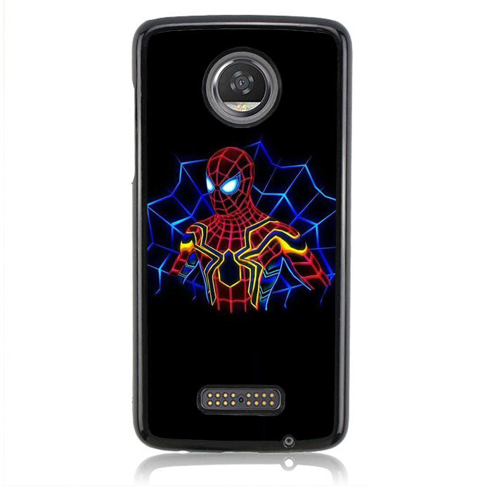 Spiderman Neon J0645 Motorola Moto Z2 Play Case
