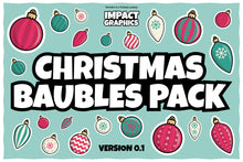 Load image into Gallery viewer, Christmas Baubles Pack – Stickers, Icons and Illustrations