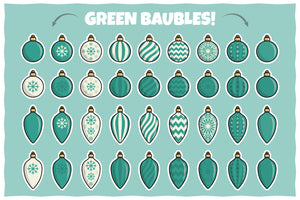 Christmas Baubles Pack – Stickers, Icons and Illustrations