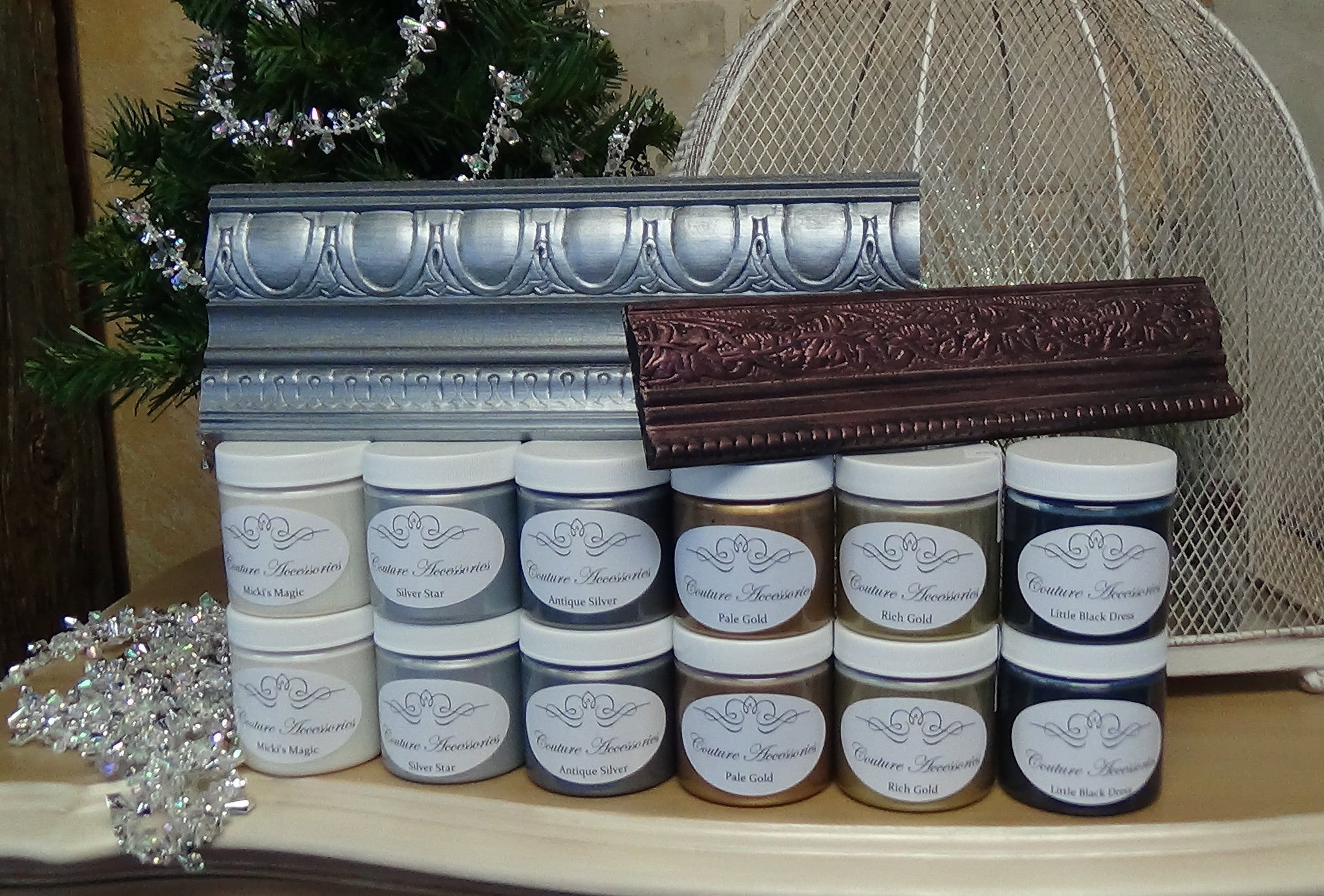 A great sampler collection of metallic paints by Paint Couture™