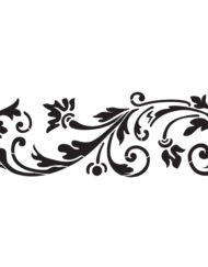 Blossoming Scroll  Stencil by Artisan Enhancements