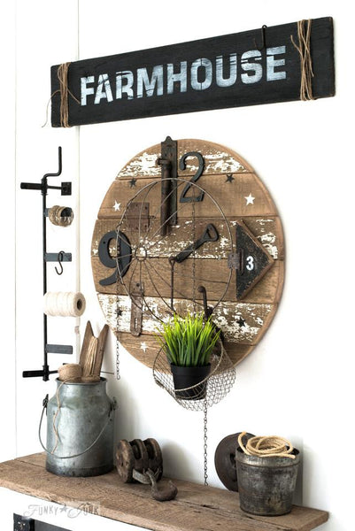 Funky Junk Old Sign Stencil--Farmhouse 2 sizes