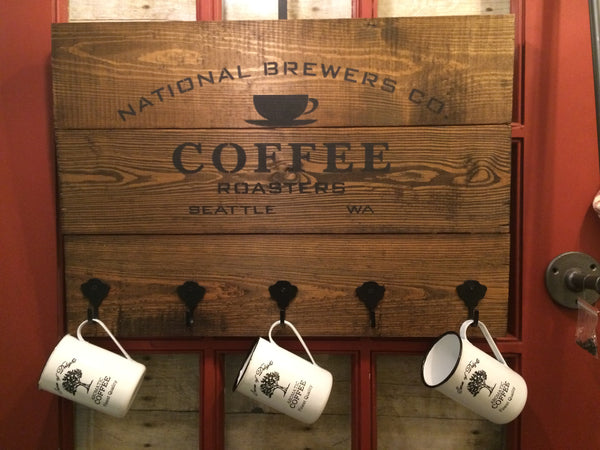 Coffee Sign with Hooks Workshop--U Schedule It!