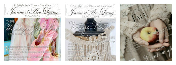 Jeanne d'Arc Living magazine back issus