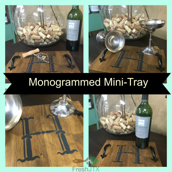 Monogrammed Mini-Tray & Faux Etched Glass Workshop--U Schedule It!