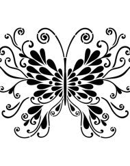 Butterfly Stencil by Artisan Enhancements