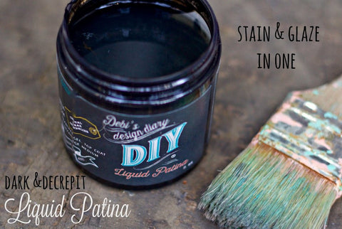 """Dark & Decrepit"" Liquid Patina by DIY Paint"