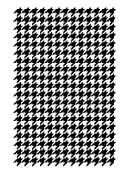 Medium Houndstooth Stencil by Artisan Enhancements