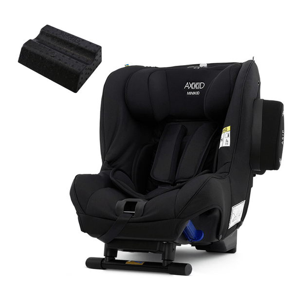 Axkid rear facing car seats Axkid Minikid Car Seat Premium Shell Black & Free Car Seat Wedge 8213-SHL-BLK